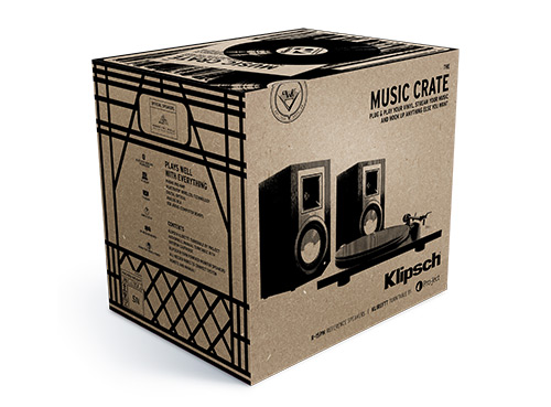 Klipsch Music Crate featuring R-15PM Speakers and Pro-Ject Turntable
