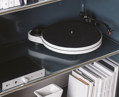 Pro-Ject RPM3 Turntable on Book Shelf