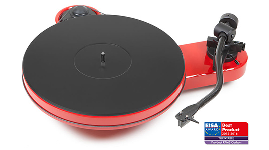 The Pro-Ject RPM 3 Carbon Turntable in Red